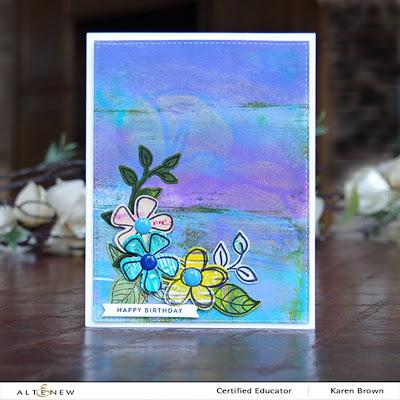 Blue and Violet Gel Press Card Background