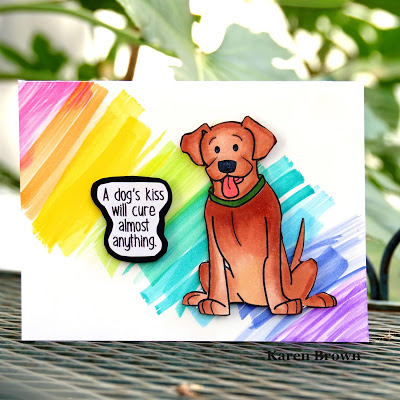 Handmade Card featuring a mutt mixed breed rescue dog.