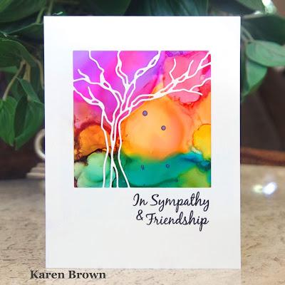 Alcohol Ink Sympathy Card