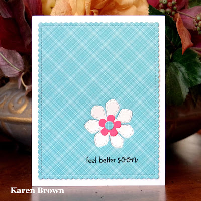 Lawn Fawn Perfectly Plaid designer paper.