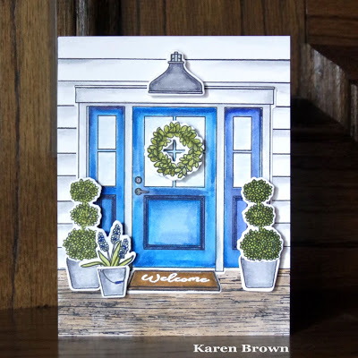 A handmade card for Kappa Kappa Gamma sorority.