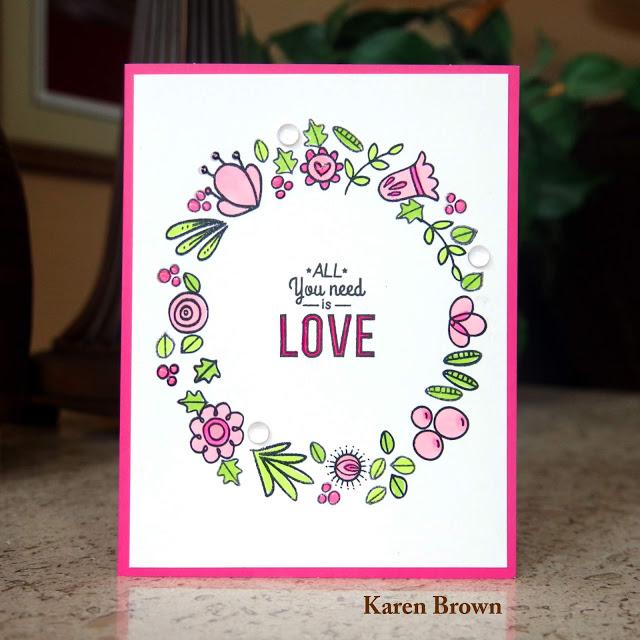 Handmade card embellished with Studio Katia Clear Drops, Nuvo Crystal Drops and Nuvo Aqua Shimmer.