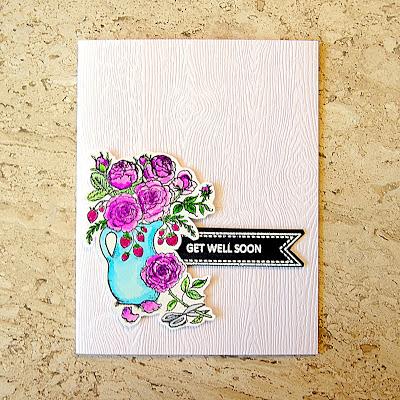 Handmade card using Power Poppy Go Wild stamp set.