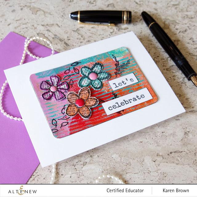 Altenew Doodle Blooms Mixed Media card.