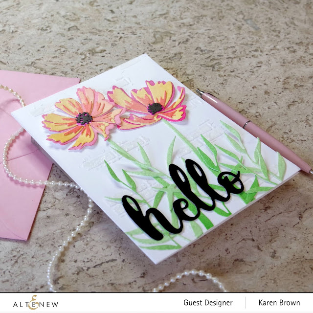 Altenew Cosmos Layering Die cut floral images.