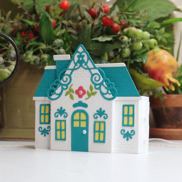 Amazing Paper Grace Pop Up House, July 2021 Spellbinders kit.