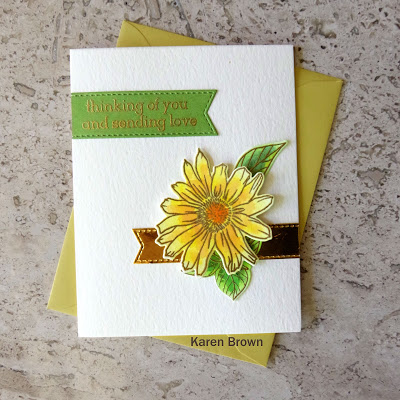 Altenew Academy Let It Shine card featuring gold embossing and gold metallic card stock accent.