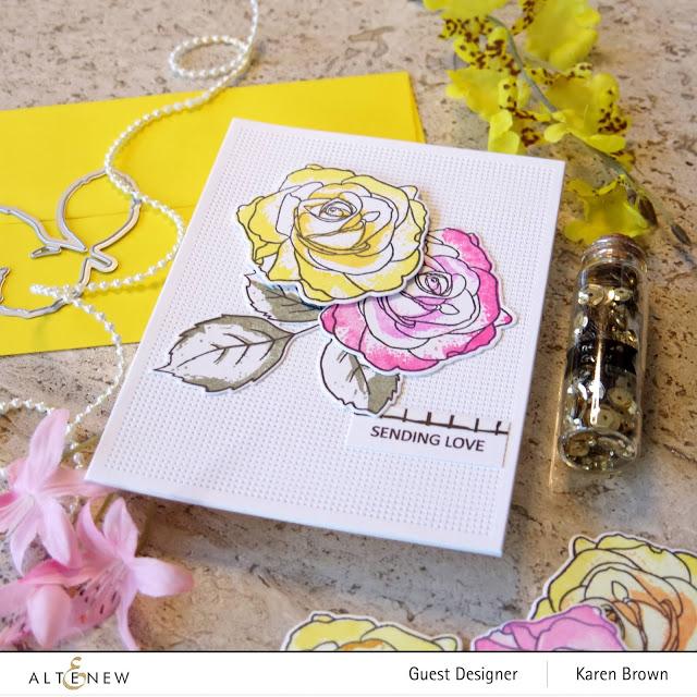 Yellow Rose Altenew Card
