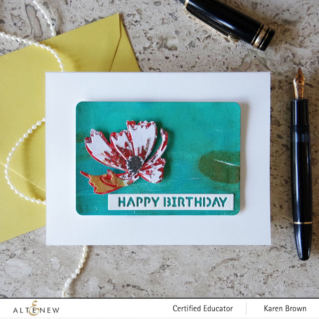 Gelli Print Handmade Card