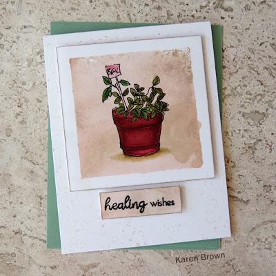 A vintage look masculine card featuring Altenew Garden Grow stamps.