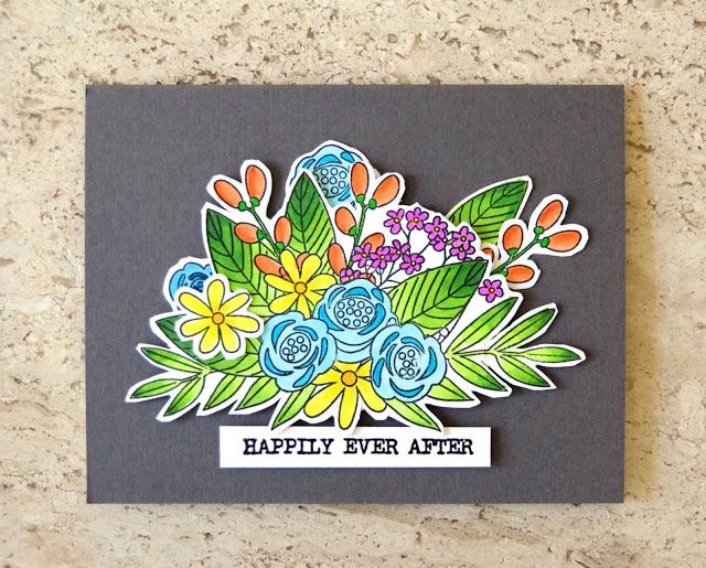 Handmade Card for a Bridal Shower