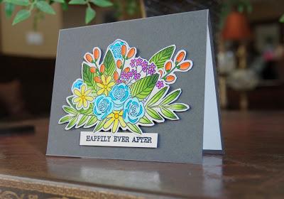 Handmade Card for a Bridal Shower.