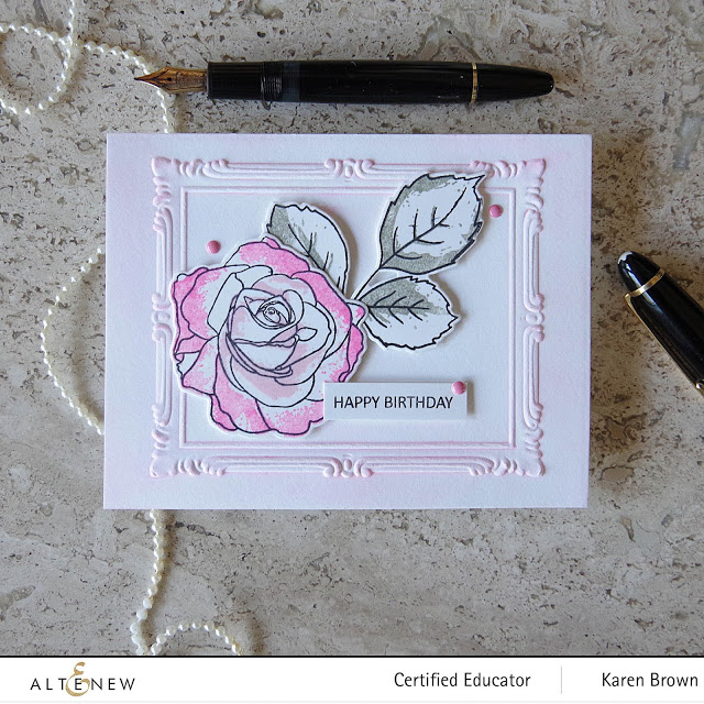 Pigment ink and 3D embossing folders