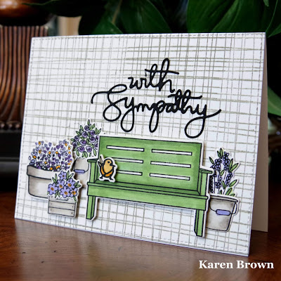 Sympathy Card using Altenew Garden Grow, Hero Arts January 2019 My Monthly Hero and WPlus9 New Home.