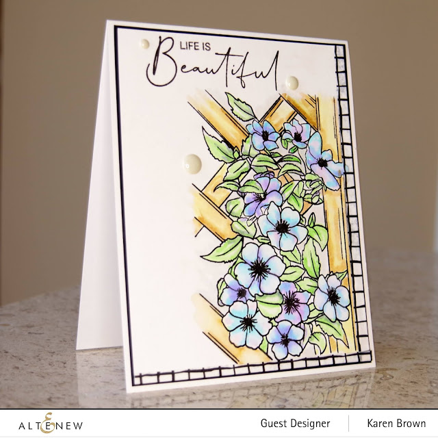 Altenew Clematis Watercolor Card