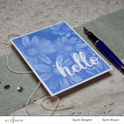 White pigment ink blended over 3D embossing folder