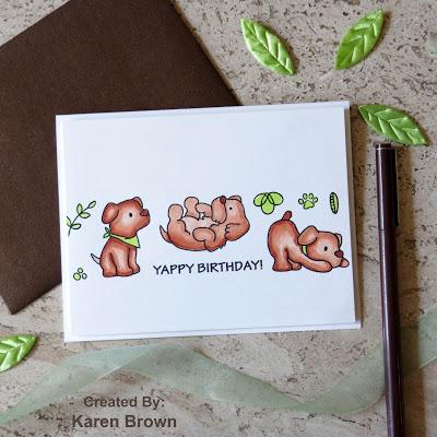 Masculine Yappy Birthday Card