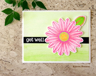 Embossed Get Well Card