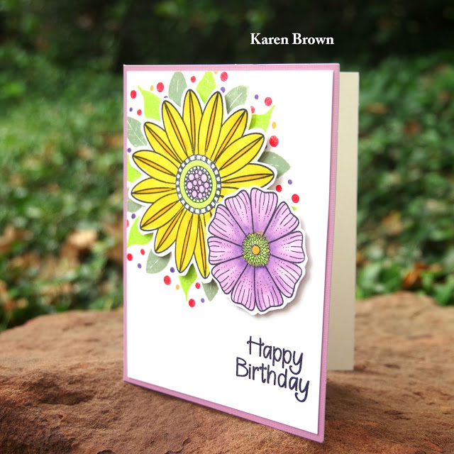 Create a Smile In Bloom and Botanical Love stamp sets.