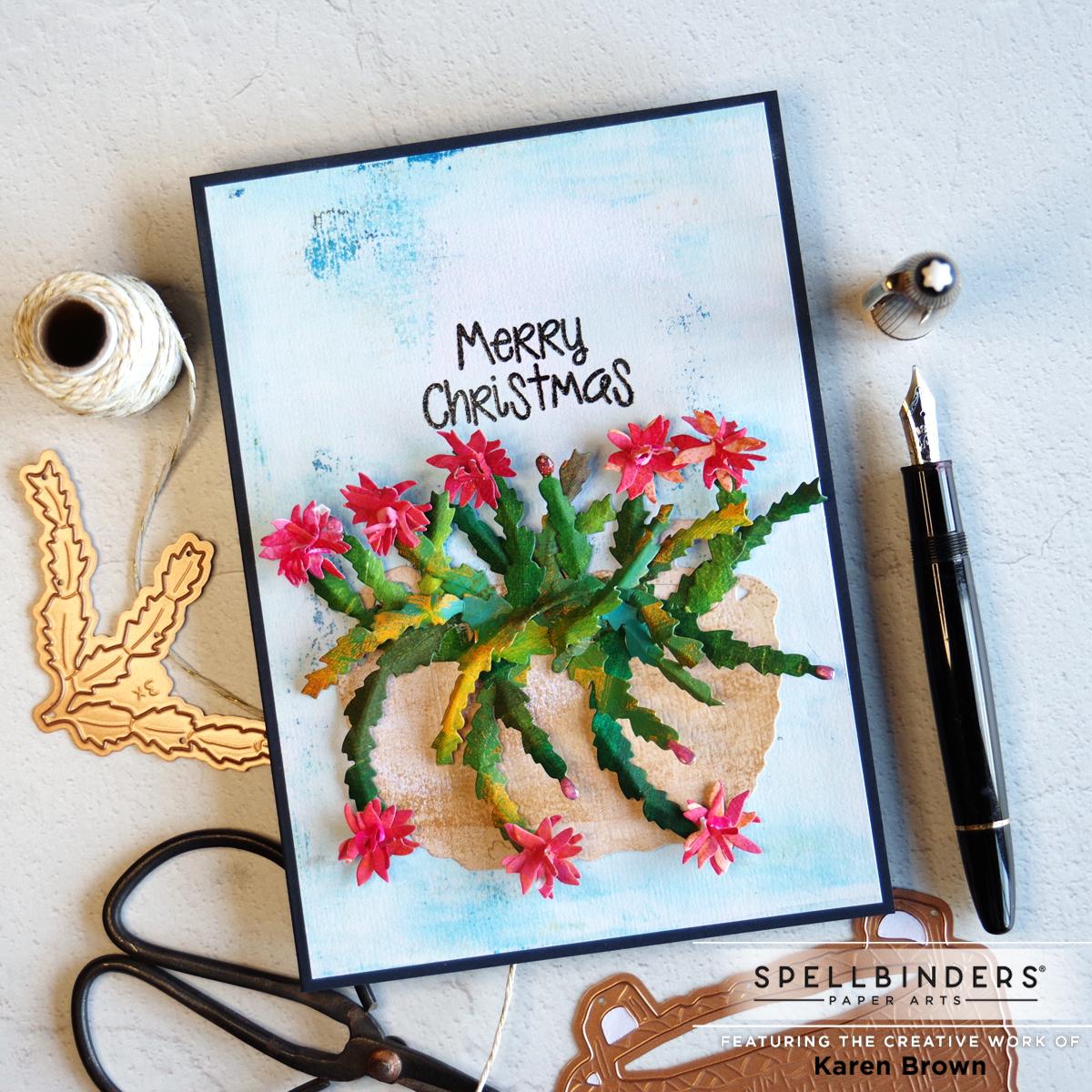 Die Cut 3D Christmas Cactus Card