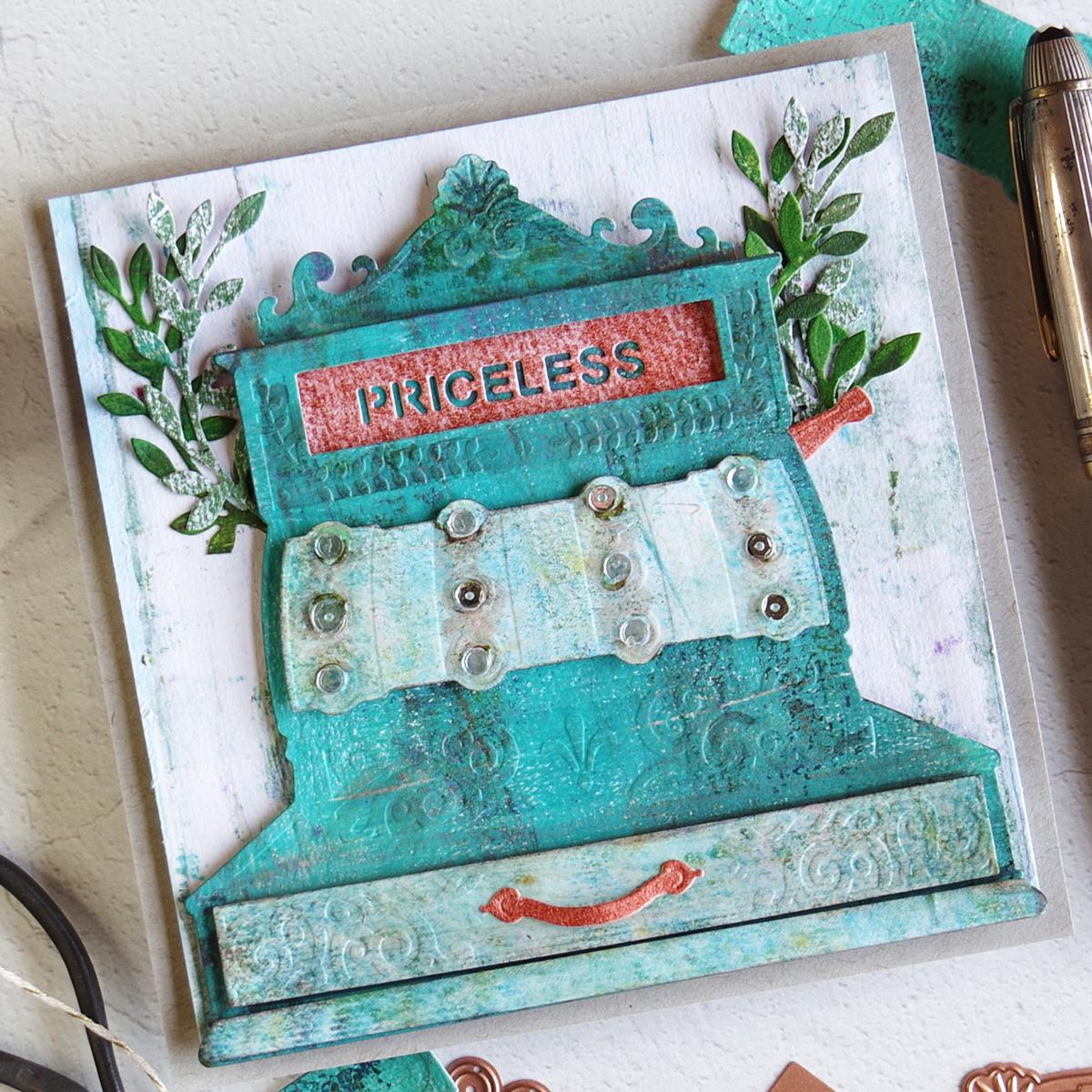 Spellbinders Vintage Cash Register Card